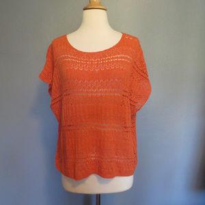 DENIM SUPPLY Ralph Lauren Orange Crop Knit Top